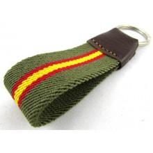 Llavero bandera España verde. Modelo 516