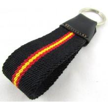 Llavero bandera España negro. Modelo 517