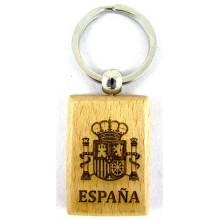 Llavero madera Escudo España. Modelo 524
