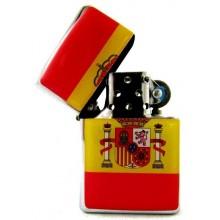 Encendedor gasolina bandera España. Modelo 16