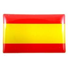 Pegatina relieve bandera España 4x2,5cm