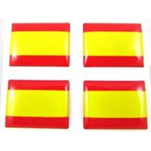 Set 4 pegatinas relieve bandera de España