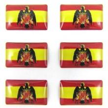 Set 6 pegatinas bandera España Aguila de San Juan