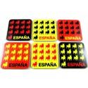Pegatina bandera España trazos. Modelo 27