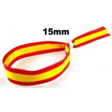 Pulsera cinta bandera España 15mm. Modelo 109