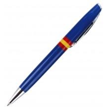 Bolígrafo bandera España. Moldelo 06 azul.