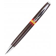 Bolígrafo bandera España. Moldelo 07 marrón