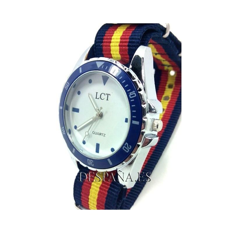 Correa reloj 20mm bandera España marino