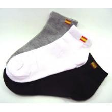Set 3 pares calcetines bandera España. 35-39