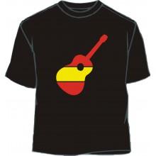 Camiseta Don Quijote. Negra.