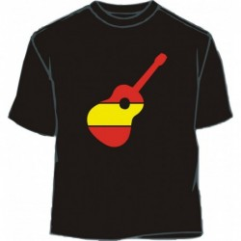 Camiseta guitarra bandera España