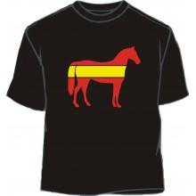Camiseta caballo 1 bandera España