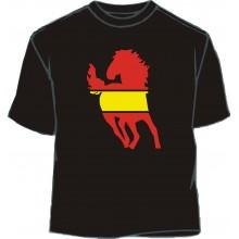 Camiseta caballo 2 bandera España