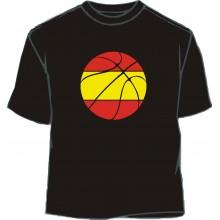 Camiseta balón basket bandera España