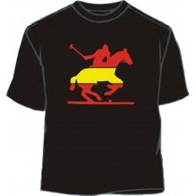 Camiseta caballo 4 bandera España