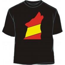 Camiseta lobo bandera España