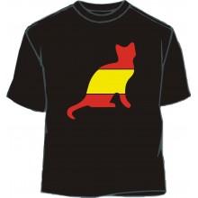 Camiseta gato bandera España