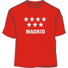 Camiseta Comunidad de Madrid. Roja