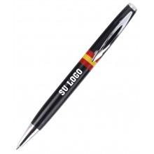 Bolígrafo bandera España negro personalizado. Modelo 009