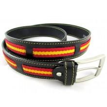 Cinturón piel bandera España. Modelo 104