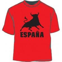 Camiseta España Toro. Rojo-negro