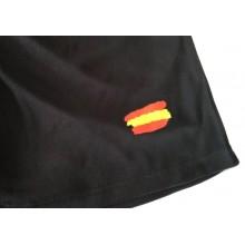 Pantalón negro bandera España. Modelo 01